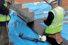 Surface sealing - peripheral protection Make sure the root barrier membrane is sealed properly around
