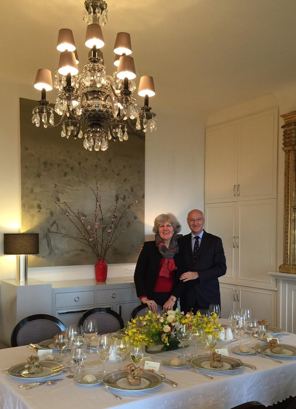 OFFICIAL DINNER GOOD FRANCE AT THE FRENCH RESIDENCE 18 March 2018 (Sunday) Inspired by Auguste Escoffier, who launched the Dîners
