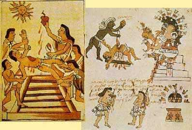 Aztec human sacrifice was on a greater