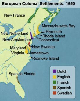 Characteristics of European Settlement in North America Settlers from the
