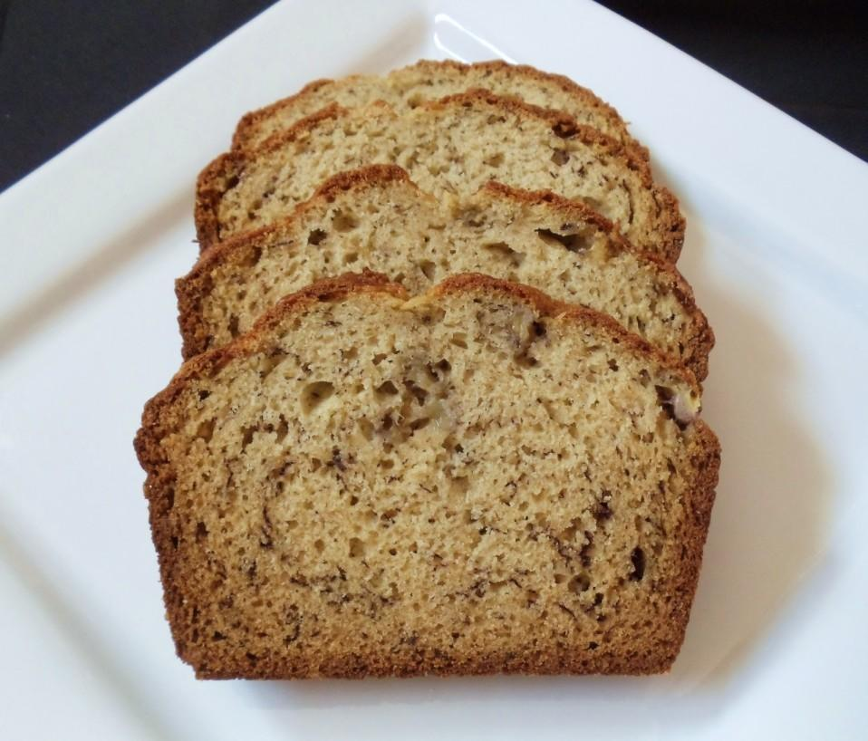 Banana- Zucchini Bread *Submitted by Mrs. Mary Ellen Lavin *A Paramus High School food s class favorite! A PHS favorite!! Yields: 18 slices Serving size: 1 ¼ inch thick slice 1 large egg 1.
