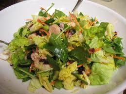 Baby lettuce and avocado salad with ginger-cucumber dressing *Submitted by: Maria Dalmau Yields: 6 Serving Size: 2 TBSP dressing per 1-2 cup greens Ingredients for salad: 1 avocado