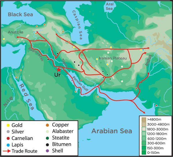 Trade Sumerians used technology to make trade