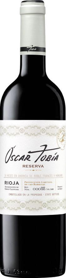 OSCAR TOBIA Reserva 2010 Year 2010 This excellent vintage was the first havest we made on the new facilities in Cuzcurrita Rio Tirón.