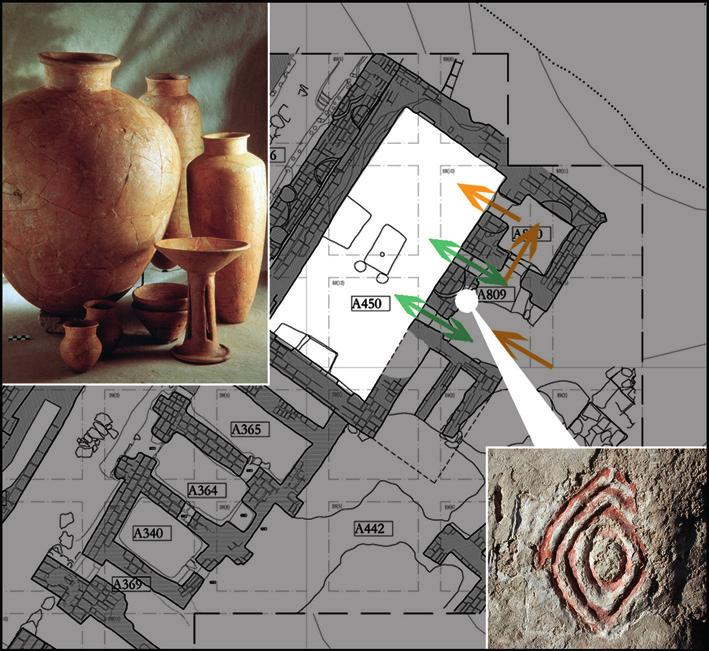 maria bianca d anna Fig. 9 Period VI A Temple B: plan; access pattern; wall decorations; some of the pots found in A450. Photo R. Ceccacci, Archive MAIAO.