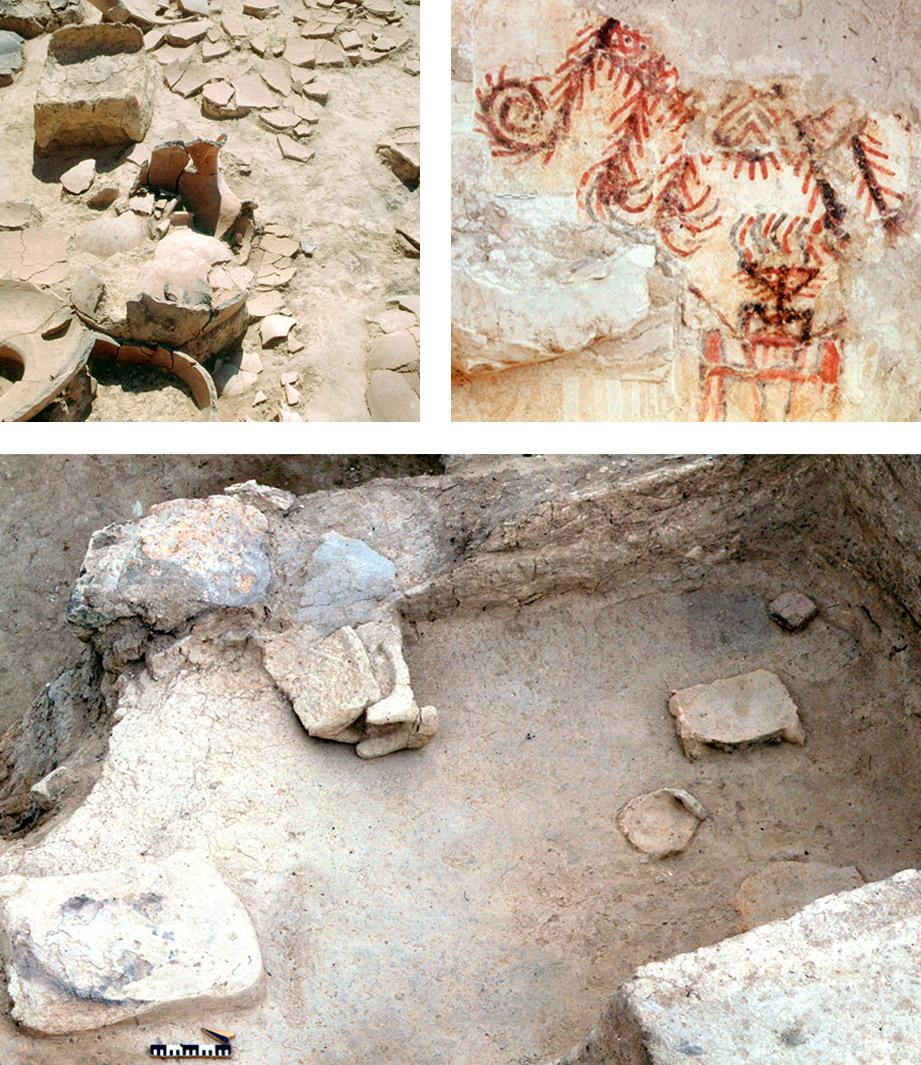 maria bianca d anna Fig. 12 Mud tables in A450 (a) and A747 (c) during excavation, (b) one of the two human figures depicted I the storeroom A364. Photos R. Ceccacci, Archive MAIAO.