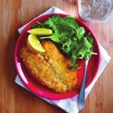 Parmesan-Crusted Tilapia Serves 4 1. ½ cup panko (Japanese breadcrumbs) 2. 2 ounces grated fresh Parmesan cheese (about ½ cup) 3. ¼ teaspoon kosher salt 4. ¼ teaspoon freshly ground black pepper 5.