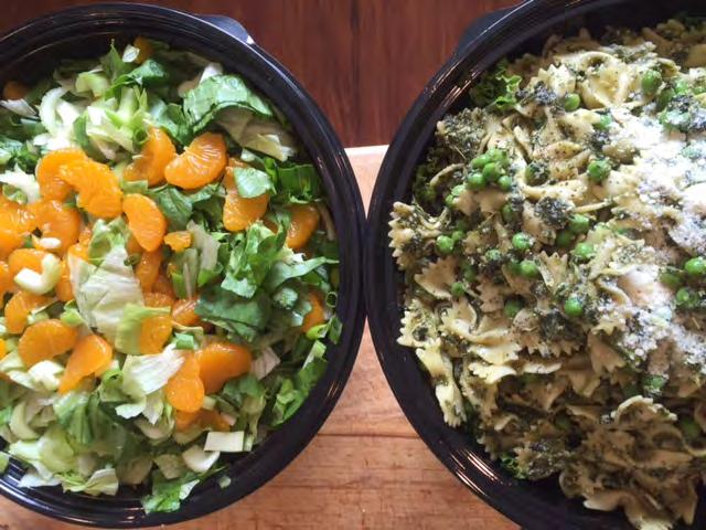 seasonal soups, or your favorite soup! $6.99 pp/min. 12 Salad Super Party Salads All dressings are homemade. A bowl feeds approx. 20. Not available for individual boxes.