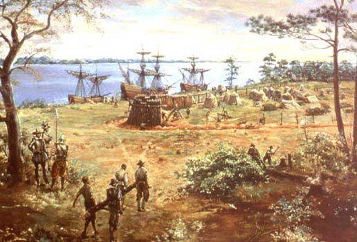 December 1606, the company sent 144 settlers in three ships to build a new colony in North America.