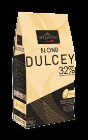BLOND DULCEY 32% 9458 Creamy & Toasty A natural golden blond AROMATIC QUALITIES Dulcey boasts a blond color, a creamy, unctuous texture and an intensely delicious cookie flavor