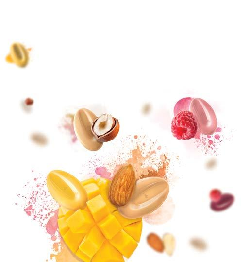 ADVANTAGES An intense, gourmet fruit flavor, which has been expertly developed by Valrhona s R&D teams 100% natural, preservative-free ingredients, with no artificial colors or flavors A texture that
