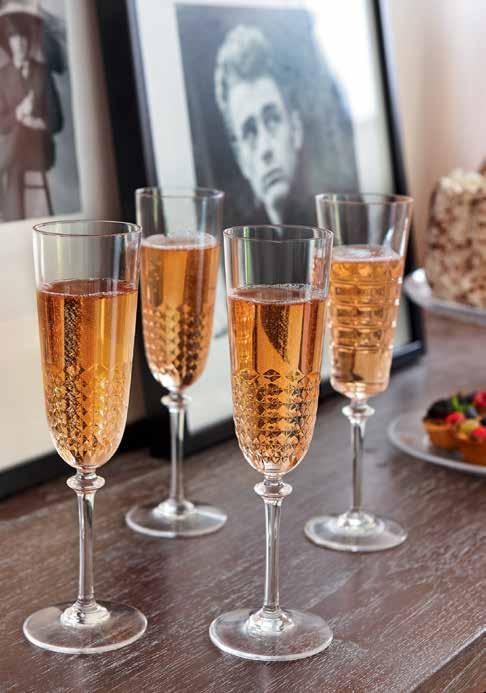 // Ninon Ninon is a great new textured stemware range. This range features heavily textured glasses that are a real throwback to decadent styles of the past.