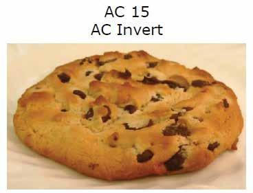 aroma. The images of cookies in tests illustrate the difference in browning using white sugar versus invert syrup.
