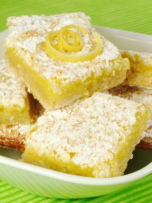 Lemon Squares The mouth-watering aroma of the famous lemon square dessert we all