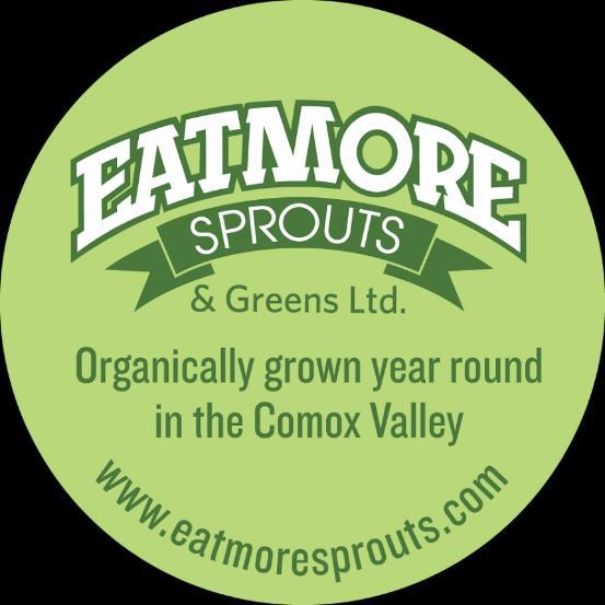 MISSION Eatmore Sprouts & Greens Ltd. provides fresh, locally grown, certified organic sprouts and greens year round in the Comox Valley and beyond for a happier healthier planet.