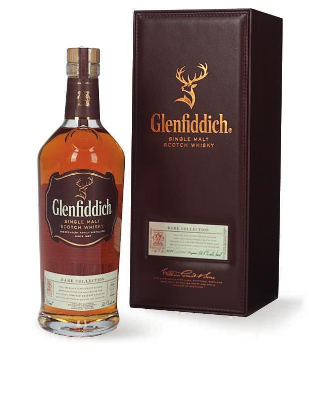 THE GLENFIDDICH RARE COLLECTION We arrive at The Glenfddich distillery in a furry of frozen rain hectic, formless precipitation that is followed immediately by piercing sunlight.