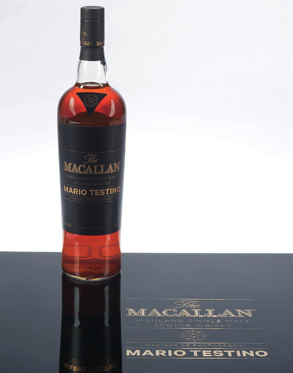 58 The Macallan, Masters of Photography Mario Testino Purple Speyside Includes six Pillars of Macallan 50ml bottles All in presentation case with limited edition print of Purple 1 bottle per lot