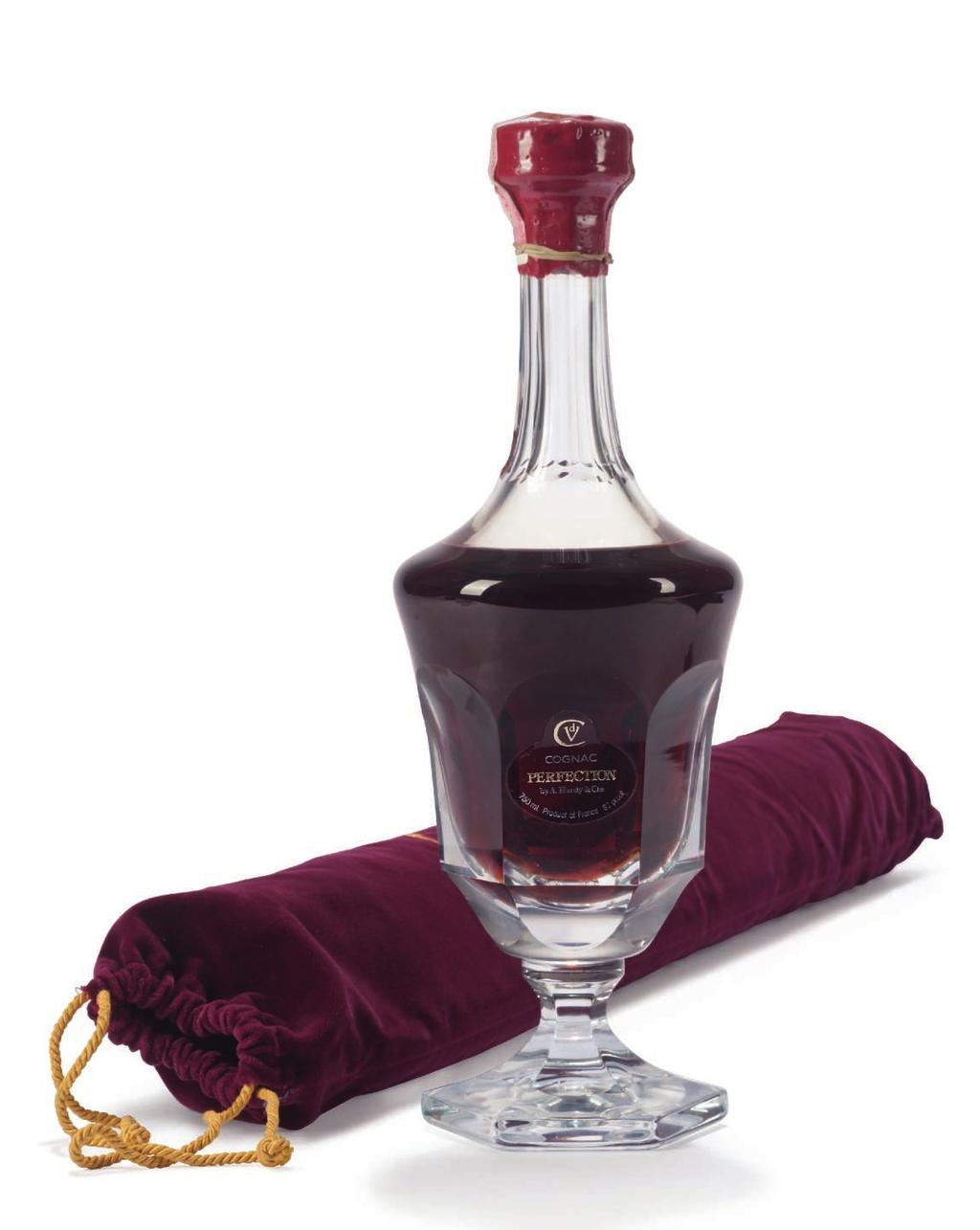 PERFECTION 67 Hardy Perfection Cognac Bottle 514 of 1200, includes Daum crystal decanter, lithograph print and crystal stopper In presentation case 1