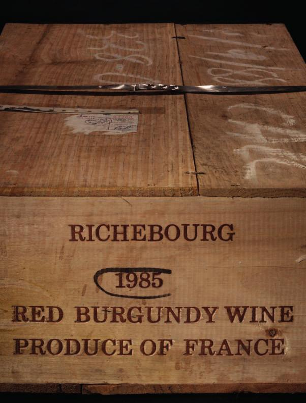 Lot 89 Lot 89 RICHEBOURG 89 Domaine de la Romanée-Conti, Richebourg 1985 Grand Cru, C te de Nuits Levels: one 1cm, eight 2cm, one 3cm, two 4cm; three lightly corroded capsules,
