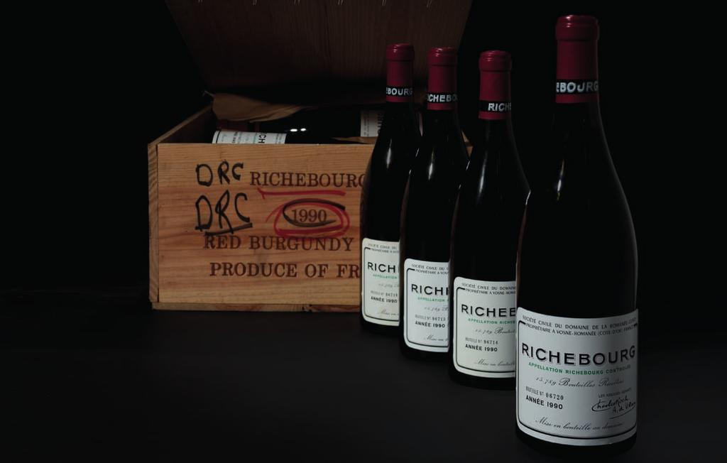 Scott Torrence, VP, Senior Specialist DRC Richebourg 1990 This is one of the Domaine s most texturally rich examples of this powerful vineyard.