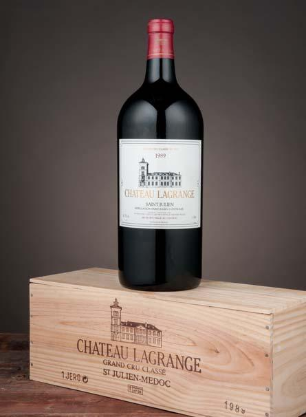 Lot 86 Lot 96 Château Lagrange 1989 St-Julien, 3me cru classé Lot 81: Three base neck level; Lot 82: Four base neck level...red fruit, bay leaf, clove and undergrowth scents.