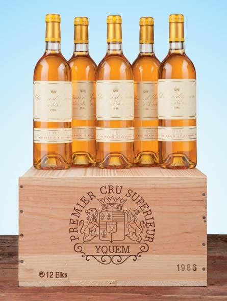 Y d Yquem 2010 Bordeaux Supérieur One owc strapped, one strapped prior to inspection by HDH 286 12 bottles (2 owc) per lot $1800 2800 Château d Yquem 1986 Sauternes, premier cru superieur Owc -