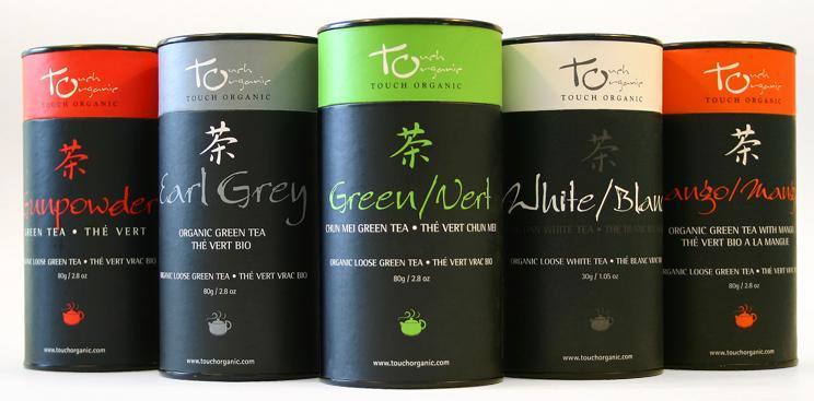 Loose Leaf Retail Size Tea Products: TEA CANS OR FOIL PACKS Description: Organic Classic Green Loose Tea (Chun Mei) Organic White Loose Tea (Bai Mu Dan) Organic Gunpowder Green Tea Organic Earl Grey