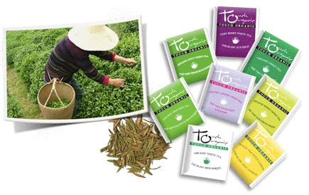 Fresh organic green tea is derived from our certified organic tea gardens and sent