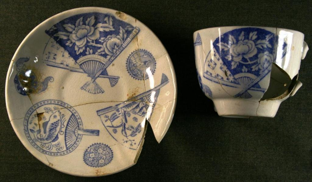 4 (HMV. 33) (Includes two shards from context 120) G.1 89 Cup & Saucer 92mm 70mm & 145mm?