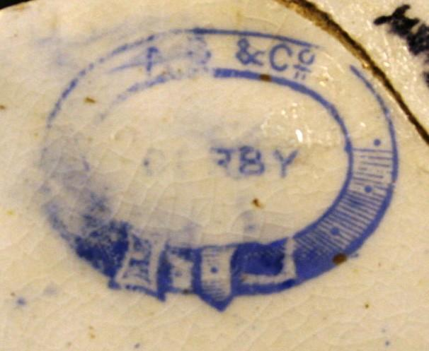 decorated with blue transfer prints. These are almost certainly from a tea service comprising cups and saucers, but no plates.
