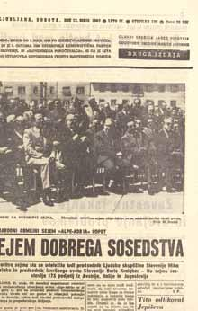 The first Alpe Adria HOME Fair (11 to 20 May 1962), which was presented as an International Cross-border Fair, was accompanied by a catalogue in Slovene, Italian