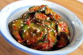 Oi Moochim (Korean Cucumber Salad) 1/2 cup distilled vinegar or rice vinegar 2 tbs soy sauce Dash of dashida (dried soup stock made from essence of seafood or beef) 2 tsp sugar 1