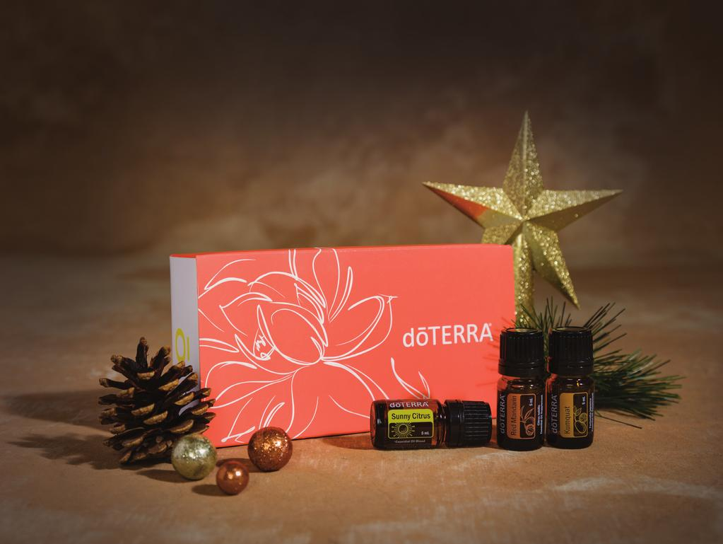 essential oil in a drawstring gift bag making it ideal for beginners and experts alike! Give the gift of AromaTouch with this unique gift set.