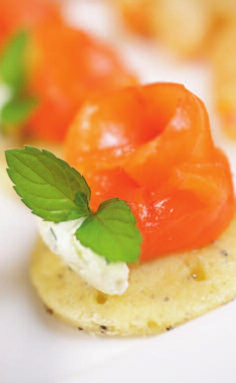 Canapés A selection of hot and cold canapés A choice of four canapés 7 per person. A choice of eight canapés 15 per person. Each additional canapé option: 2.