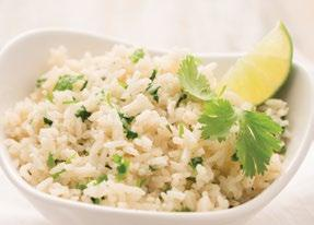 Garlic Cilantro Rice 3 cups reduced sodium chicken broth 1½ cups long-grain white rice 1½ tablespoons Garlic Garlic Seasoning Juice of 1 lime ¼ cup chopped fresh cilantro 1.