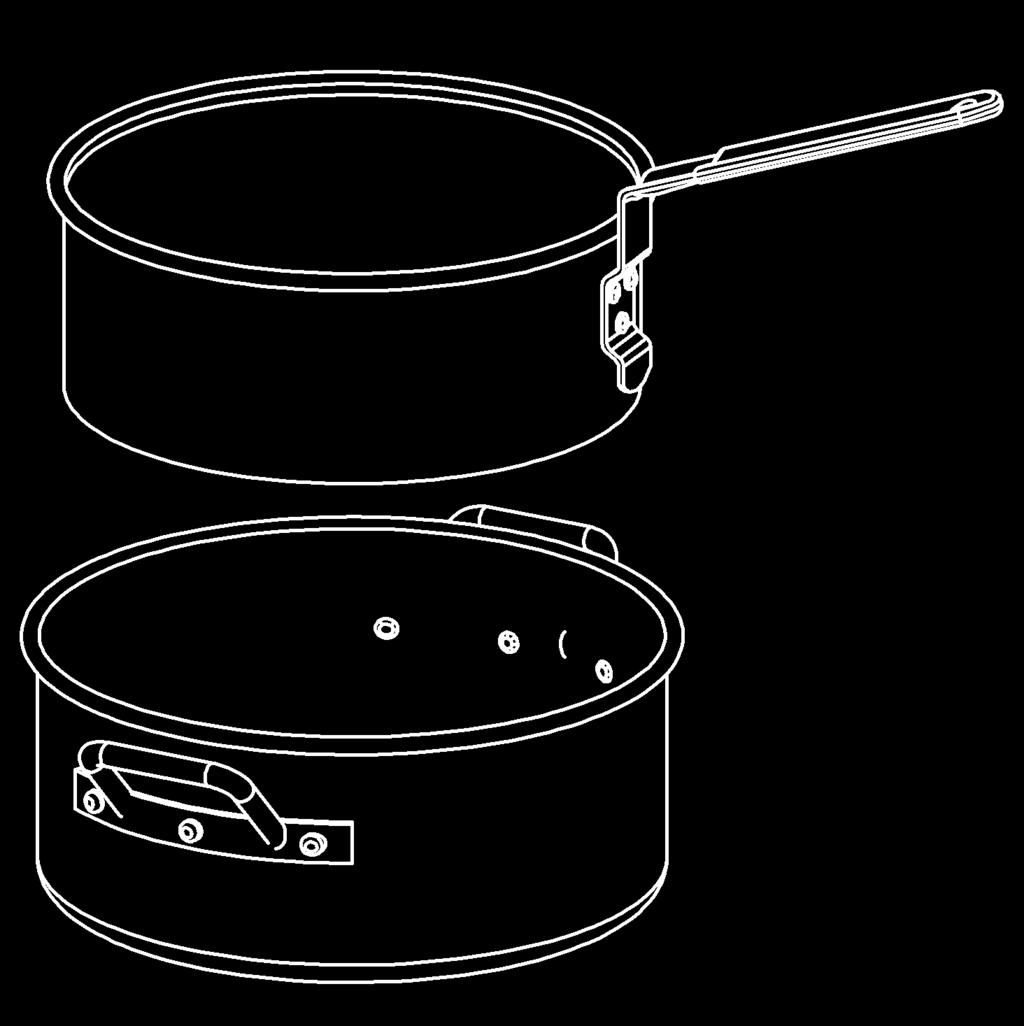 Larger pots have a fill line mark. Smaller pots may not be marked. See How to Use Cooker section in this manual. After filling pot, place food in basket or on rack.