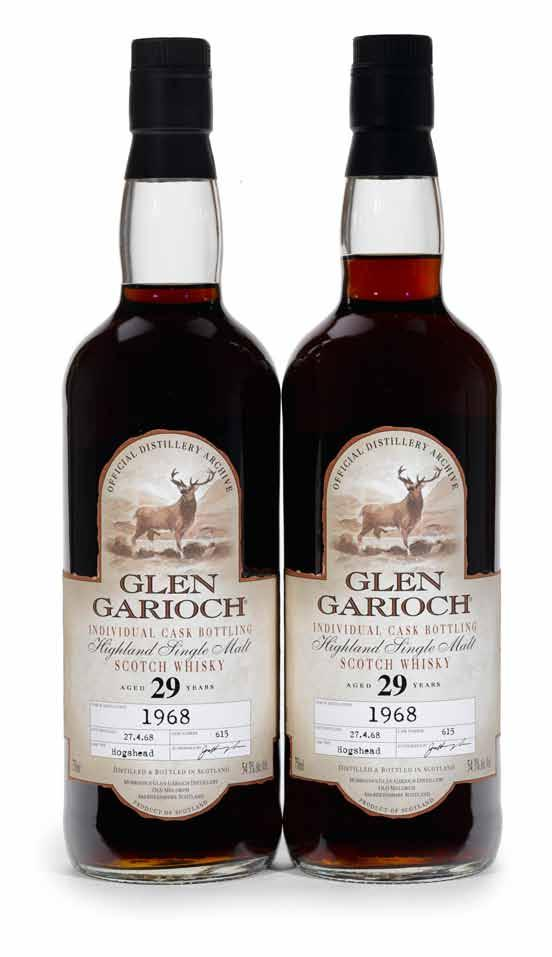 85 Glenmorangie (1) OWC, Claret Wood Finish Level: base neck 750ml 43% 86 Auchentoshan 1965-31 years old (1) OWC, distilled 1.11.65, cask no. 2496 Level: very top shoulder 750 55.