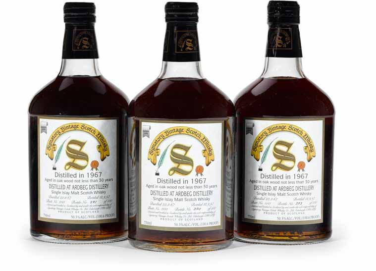 100 Benrinnes 1974-21 years old (2) SV distilled 3.74, bottled 9.95 Level: very high shoulder 750ml 55% (110 proof) 2 bottles 101 Caol Ila 1976-19 years old (2) SV distilled 9.76, bottled 12.
