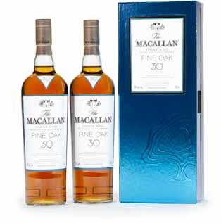 120 572 121 124 Macallan 25 years old (1) D.B. Exclusively matured in selected sherry oak casks from Jerez, Spain. Level: Base of neck.