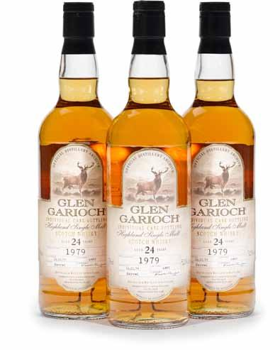$450-550 690 691 Glen Garioch 1979-24 years old (3) OC. Distilled 16-11-79. Cask #6489. Park Avenue Liquors exclusive bottling. Level: Into neck. 750ml. 52.1%.