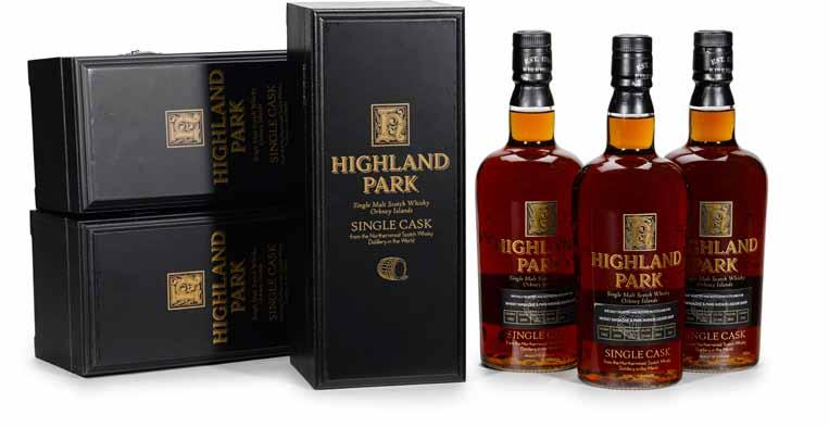 695 Highland Park 1973-32 years old (1) OWC. Single Cask #8375. Bottled 2005. Park Avenue Liquors exclusive bottling. Level: Into neck. 750ml. 41.3%.