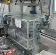 Biscuit/Snack Wafer SIG GS biscuit wrapping machine, 67mm Ø biscuits Meincke snack oven line, 1200mm wide, age 2004