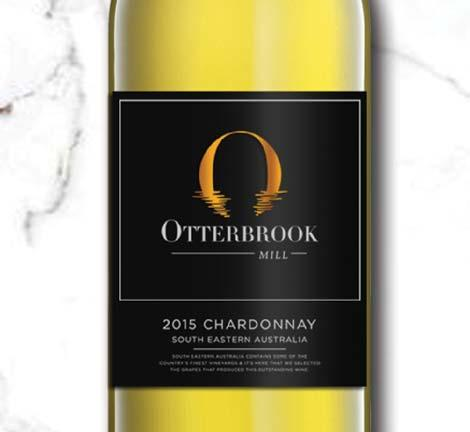 AW002 Otterbrook Mill CHARDONNAY (Alc.13.5%) South Eastern Australia, 2015 REGION: South Eastern Australia COLOUR: Light pale straw with green hues.