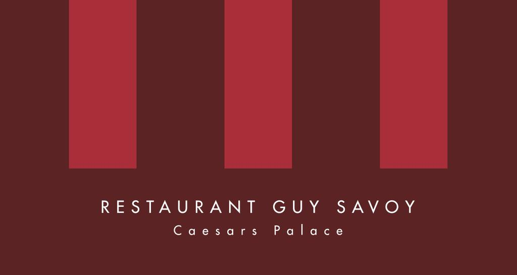 Le Restaurant Guy Savoy Las Vegas Caesars Palace 3570 Las Vegas Boulevard South Las Vegas - NV 89109 ETATS-UNIS Tel: +1 702 731 7286 The brother of the Paris restaurant A Restaurant Guy Savoy opened