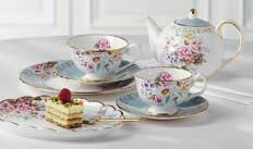 ANVITA TEAWARE COLLECTION THE HARLEQUIN COLLECTION