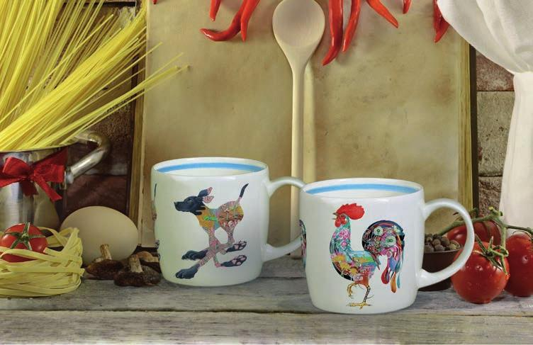 Each highly detailed watercolour image is repeated around the mug Shape: York Size: 10fl.