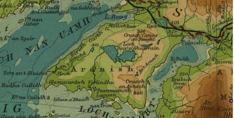 """Half Inch to the Mile Maps"" of Scotland, Sheet 14 - Arisaig and Rum"