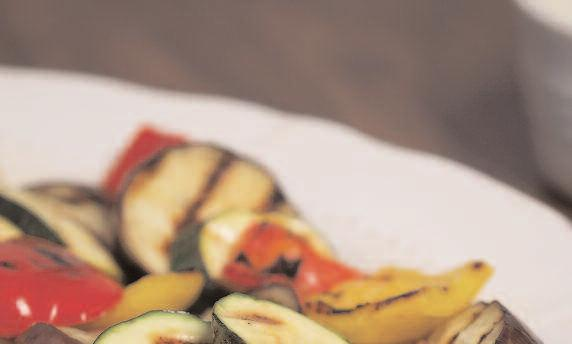 Mediterranean Vegetables with Dill and Yogurt Sauce This recipe makes a flavorsome hot appetizer or side vegetable dish to serve with grilled or barbecued steaks, chicken, or fish.