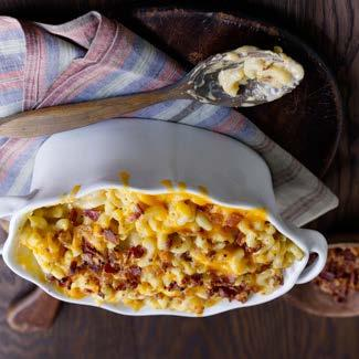 Three Cheese Macaroni & Cheese with Country Smoked Bacon David Venables Recipes QVC Recipes Kitchen & Food QVC.
