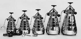 As a draftsman and constructor, he did not rest until his machines could not be further improved. He simply adored the fine art of espresso making.